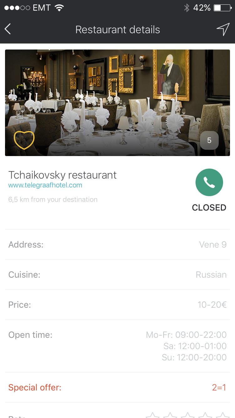 Детали ресторана