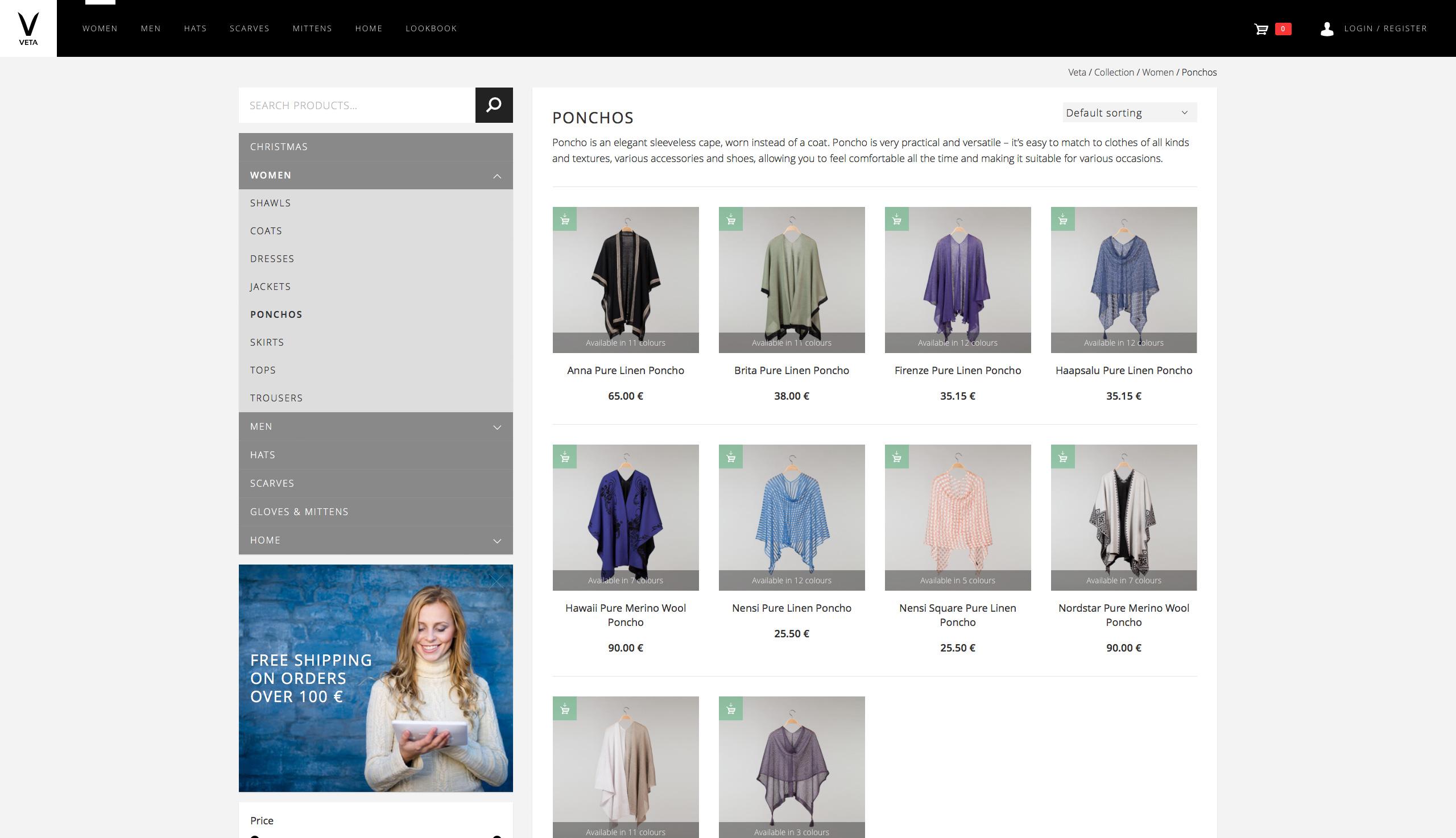 Veta Online Store