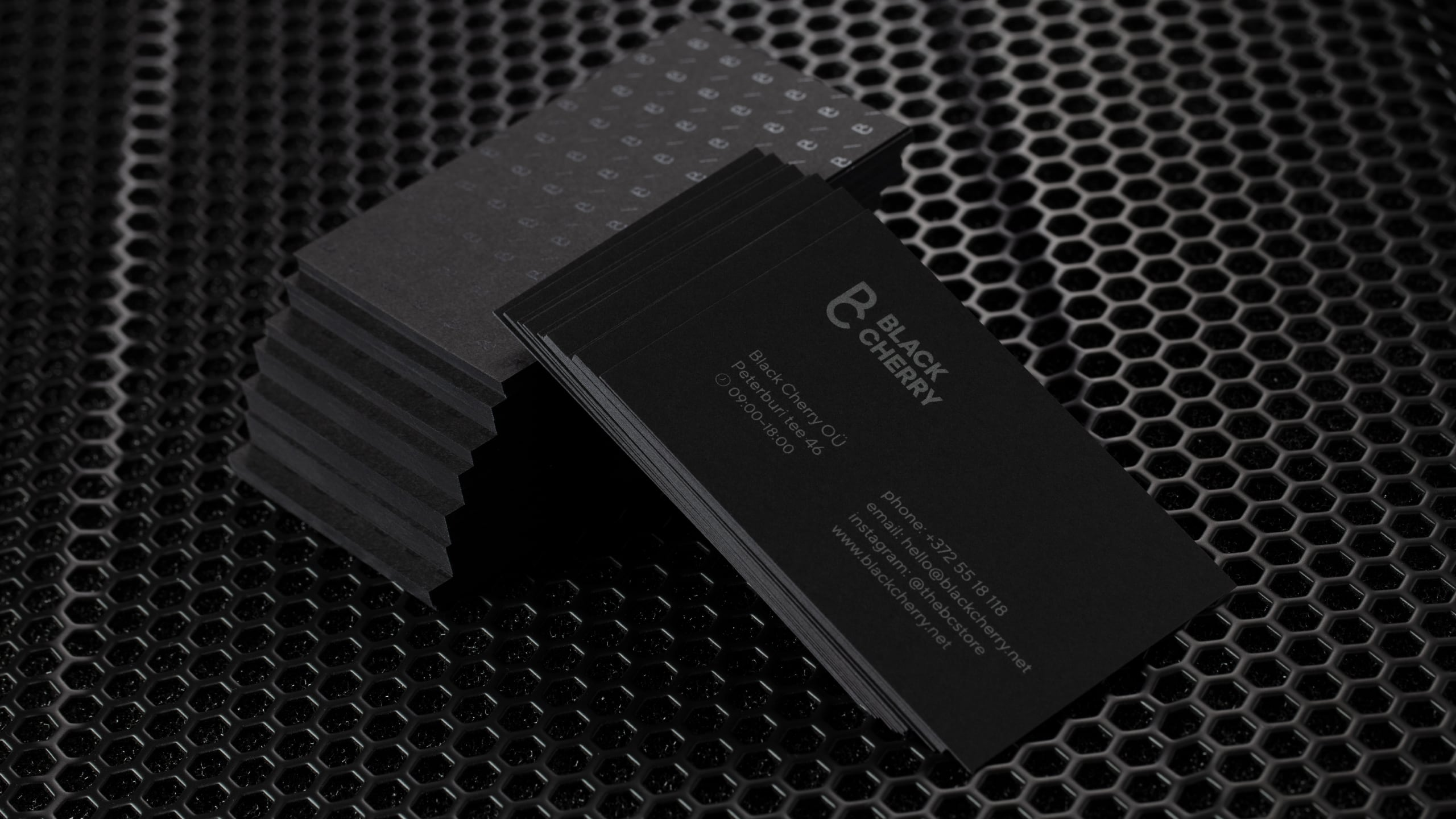Black Cherry business cards