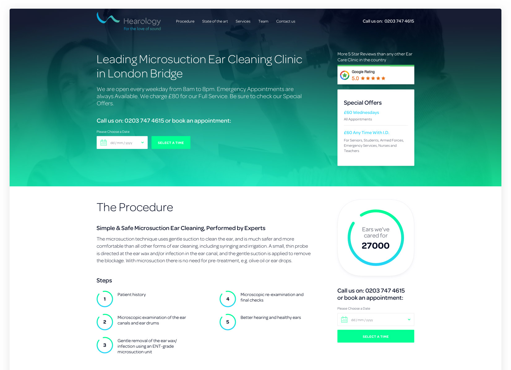 Hearology Landing Page